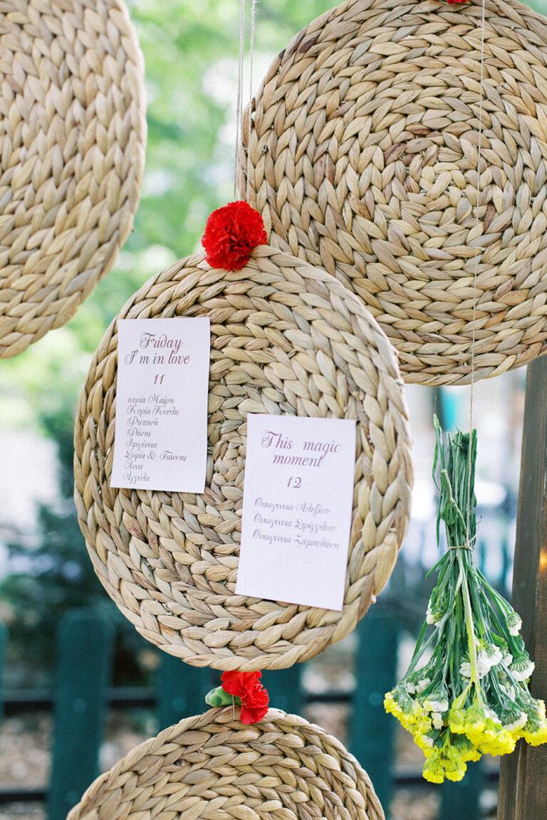 wedding table sitting decoration